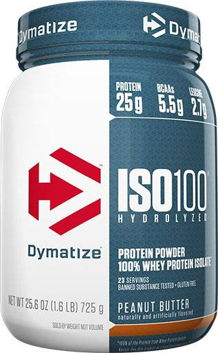 Dymatize ISO 100, Peanut Butter, 1.6lb