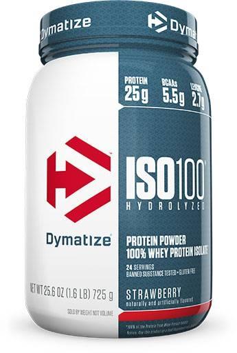 Dymatize Iso 100, Strawberry, 1.6lb