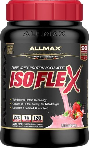 Isoflex Isolate By Allmax Nutrition, Strawberry, 2lb
