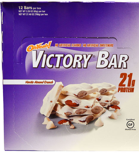 Oh Yeah! Victory Bars, By Oh Yeah! Nutrition, Vanilla Almond, 12/Box