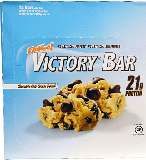 Oh Yeah! Victory Bars, By Oh Yeah! Nutrition, Chocolate Chip Cookie Dough, 12/Box