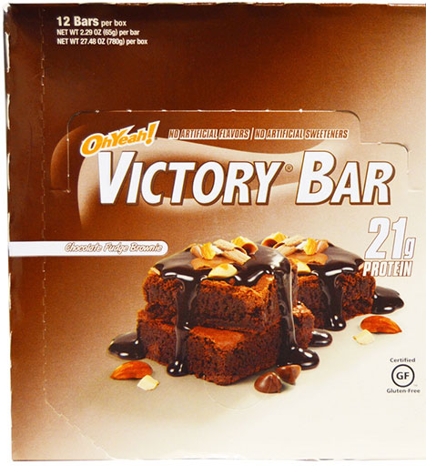 Oh Yeah! Victory Bars, By Oh Yeah! Nutrition, Fudge Brownie, 12/Box