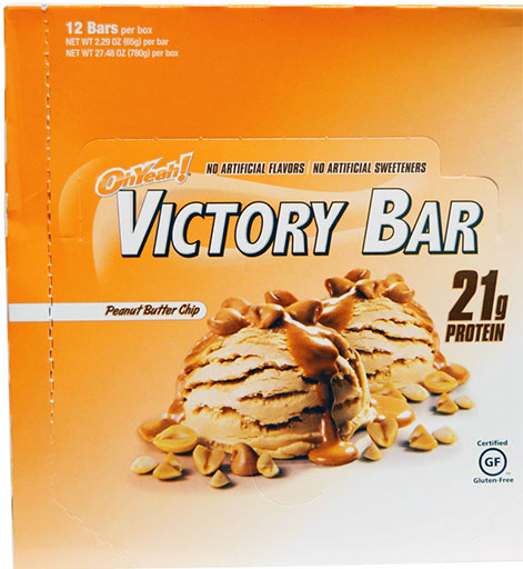 Oh Yeah! Victory Bars, By Oh Yeah! Nutrition, Peanut Butter Chip, 12/Box
