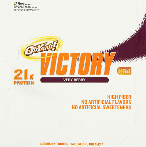 Oh Yeah! Victory Bars, By Oh Yeah! Nutrition, Very Berry, 12/Box