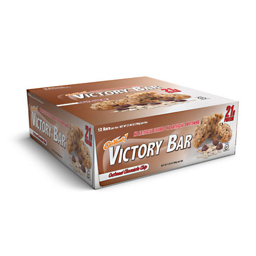Oh Yeah! Victory Bars, By Oh Yeah! Nutrition, Oatmeal Chocolate Chip, 12/Box