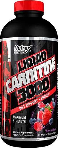 Liquid Carnitine 3000, By Nutrex, Berry Blast, 16 fl oz