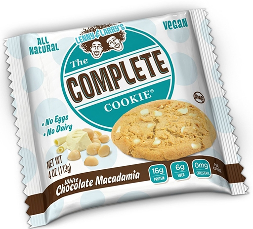 The Complete Cookie, By Lenny and Larry's, White Chocolate Macadamia, Single Cookie