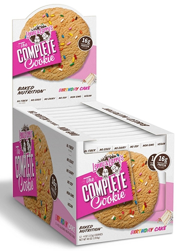 The Complete Cookie, By Lenny and Larry's, Birthday Cake, 12/Box
