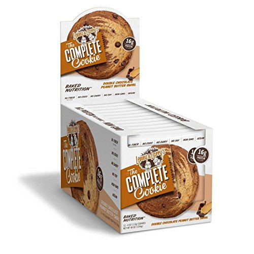 The Complete Cookie, By Lenny and Larry's, Double Chocolate Peanut Butter Swirl, 12/Box