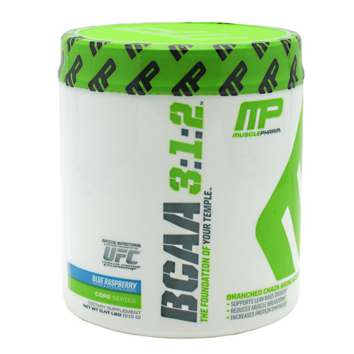 BCAA By Muscle Pharm, Blue Raspberry 30 Servings