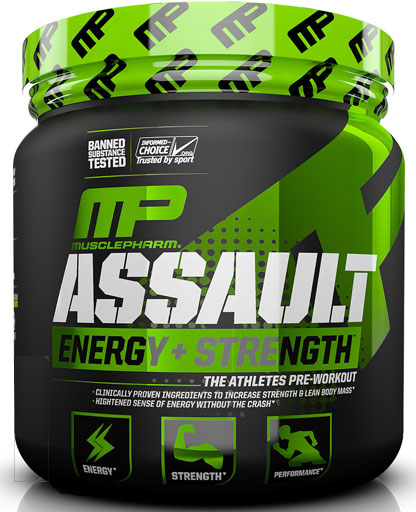 Assault Sport By Muscle Pharm, Strawberry Ice, 30 Servings