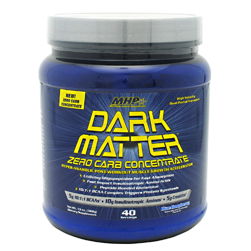Dark Matter Zero Carb By MHP, Post Workout, Blue Raspberry 40 Servings