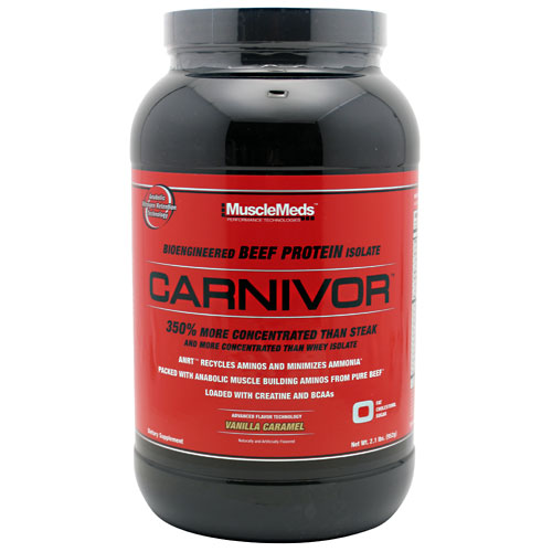 Carnivor Beef Protein By MuscleMeds, Vanilla Caramel 2lbs
