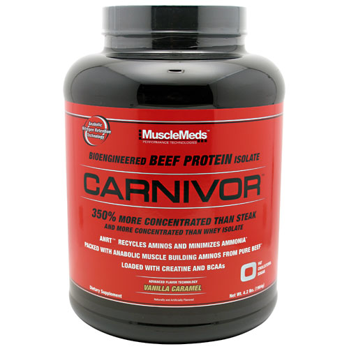 Carnivor Beef Protein By MuscleMeds, Vanilla Caramel 4lbs