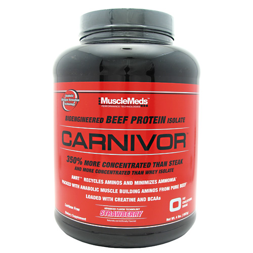 Carnivor Beef Protein By MuscleMeds, Strawberry 4 lb