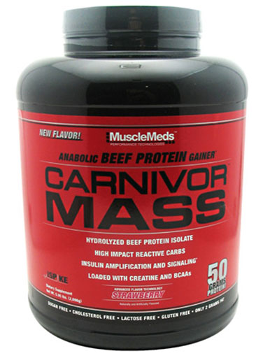 Carnivor Mass By MuscleMeds, Strawberry 5.6lb
