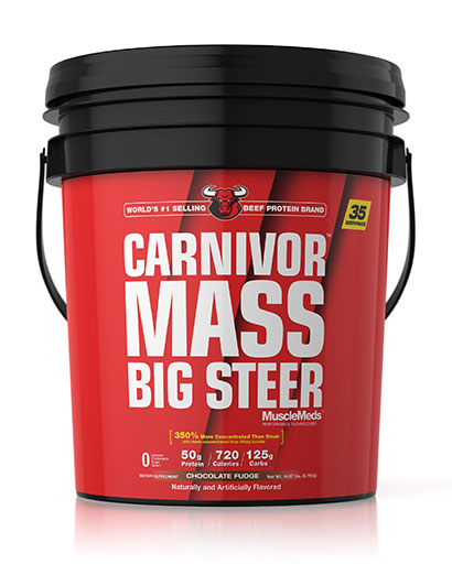 Carnivor Mass Big Steer By MuscleMeds, Chocolate Fudge, 35 Servings, 15LB