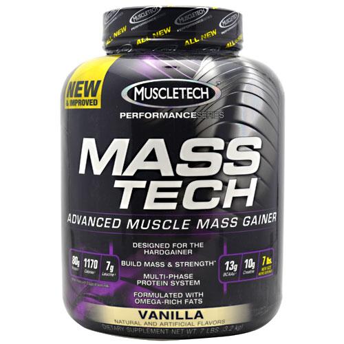 Mass-Tech By MuscleTech, Weight Gainer, Vanilla 7lb