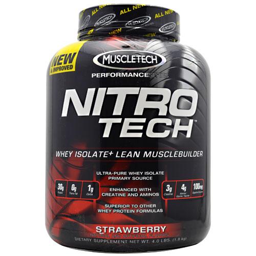 Nitro-Tech Performance Series By Muscletech, Strawberry, 4 lbs