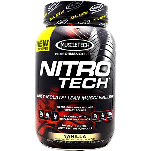 Nitro-Tech Performance Series By Muscletech, Vanilla, 2 lbs