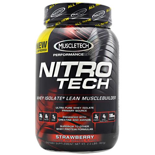 Nitro-Tech Performance Series By Muscletech, Strawberry, 2 lbs