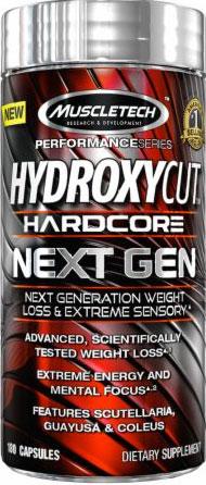 Hydroxycut Hardcore, Next Gen, By MuscleTech,100 Caps,
