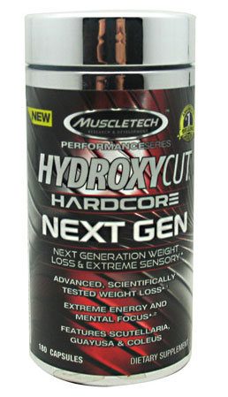 Hydroxycut Hardcore, Next Gen, By MuscleTech, 180 Caps,