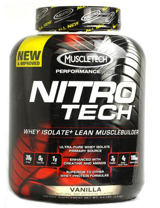 Nitro-Tech, Performance Series, By MuscleTech, Vanilla Birthday Cake, 4lb,