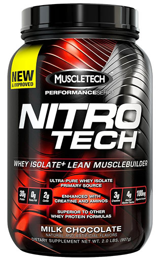 Nitro-Tech, Performance Series, By MuscleTech, Decadent Brownie Cheesecake, 2lb,