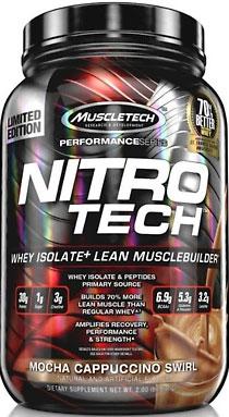 Nitro-Tech, Performance Series, By MuscleTech, Mocha Cappuccino Swirl, 2lb,