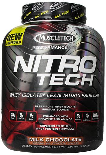 Nitro-Tech, Performance Series, By MuscleTech, Mocha Cappuccino Swirl, 4lb,
