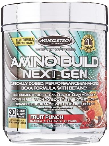 Amino Build Next Gen, By MuscleTech, Fruit Punch, 30 Servings