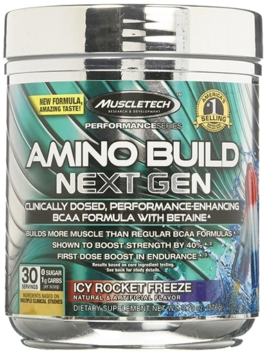 Amino Build Next Gen, By MuscleTech, Icy Rocket Freeze, 30 Servings