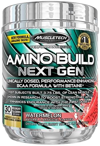 Amino Build Next Gen, By MuscleTech, White Raspberry, 30 Servings