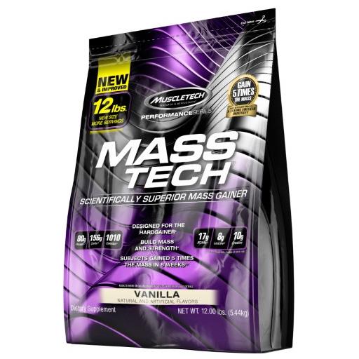 Mass Tech By MuscleTech, Weight Gainer, Vanilla, 12lb