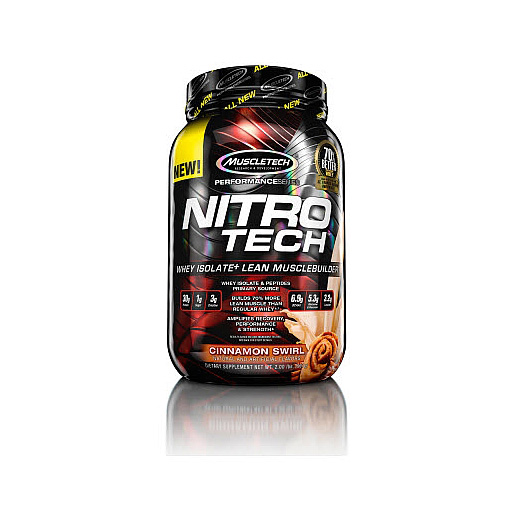 Nitro-Tech, Performance Series, By MuscleTech, Cinnamon Swirl, 2lb