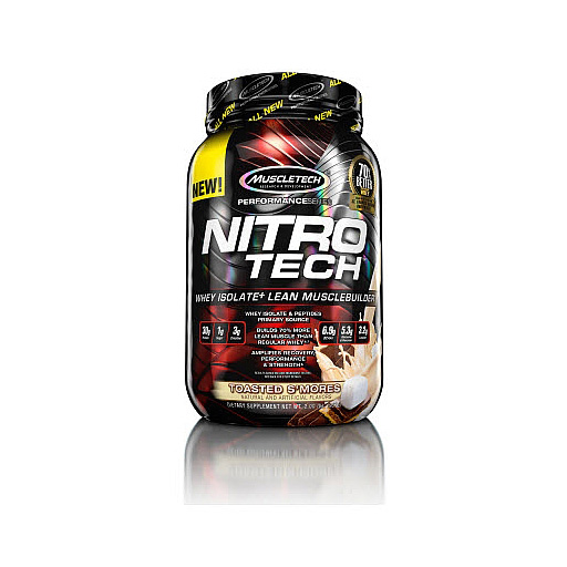 Nitro-Tech, Performance Series, By MuscleTech, Toasted Smores, 2lb