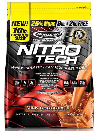Nitro-Tech, Performance Series, By MuscleTech, Milk Chocolate, 10lb