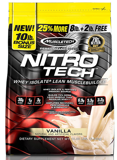 Nitro-Tech, Performance Series, By MuscleTech, Vanilla, 10lb