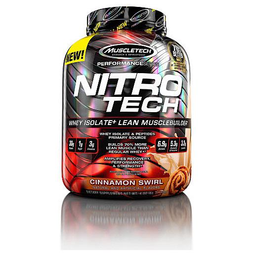 Nitro-Tech, Performance Series, By MuscleTech, Cinnamon Swirl, 4lb