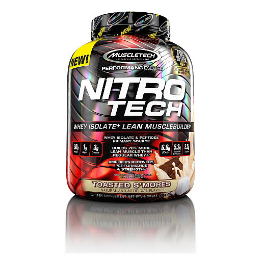 Nitro-Tech, Performance Series, By MuscleTech, Toasted Smores, 4lb