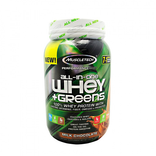 MuscleTech Whey Greens, All In One, Milk Chocolate, 2lb