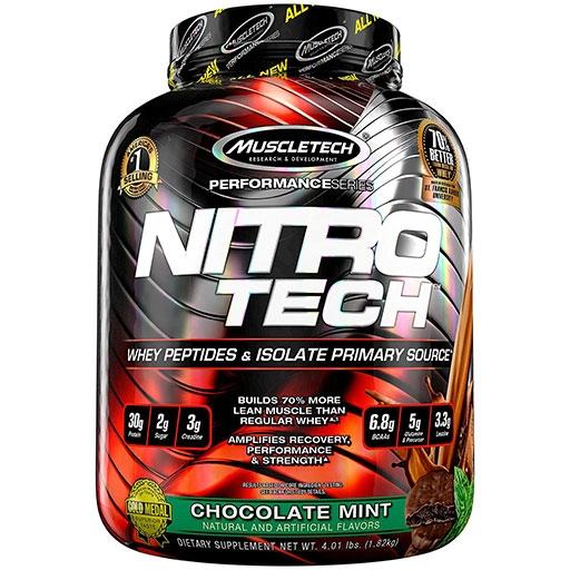 Nitro-Tech, Performance Series, By MuscleTech, Chocolate Mint, 4lb