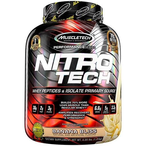Nitro-Tech, Performance Series, By MuscleTech, Banana Bliss, 4lb