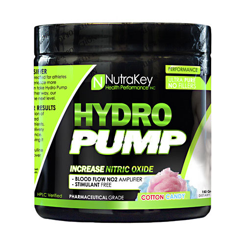 NutraKey Hydro Pump, Cotton Candy, 30 Servings