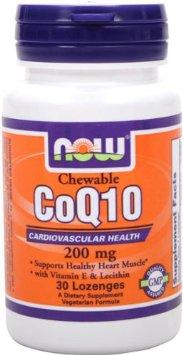 NOW CoQ10 200 mg with Vit E & Lecithin - 30 Loz