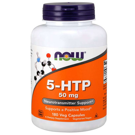 NOW Sports, 5-HTP, 50 mg, 180 Veg Capsules,
