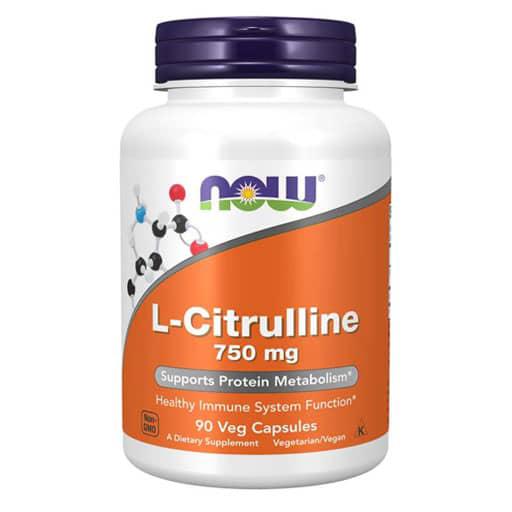 NOW L-Citrulline, 750 mg, 90 Veg Caps