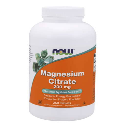 NOW Magnesium Citrate 200 mg  - 250 Tabs