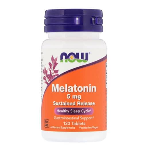 NOW Melatonin, Sustained Release, 5mg, 120 Tabs